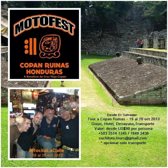 Tour a Copan Ruinas y MOTOFEST OCT 2013