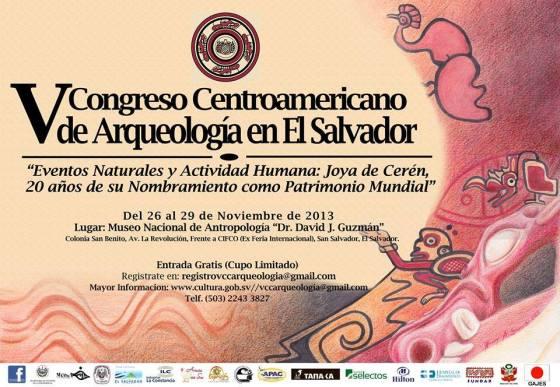 0 V Congreso CentroAmericano de Arqueologia de El Salvador invitacion