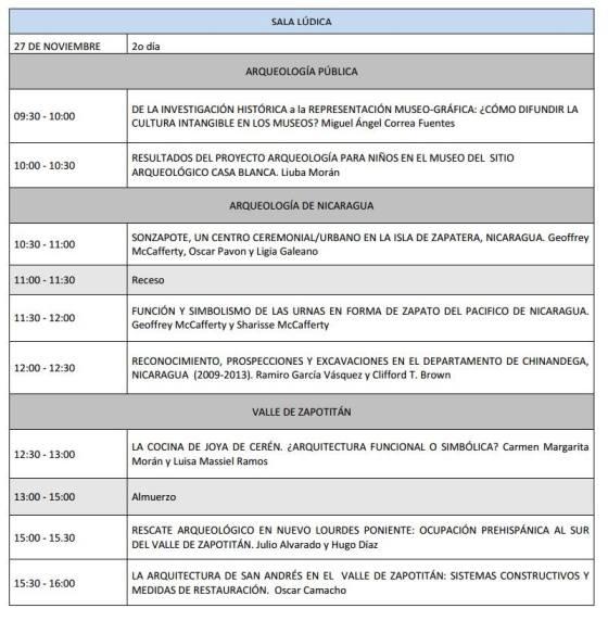 4 Programa V Congreso Centroamericano de Arqueologia en El Salvador