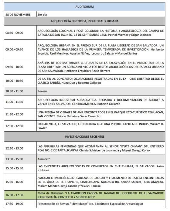5 Programa V Congreso Centroamericano de Arqueologia en El Salvador